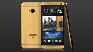 Limited edition gold shell HTC One